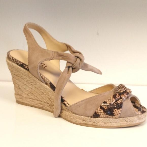 48b705565fe7e CASTELL Shoes   Wedge Espadrilles Suede Sandleather Pitone   Poshmark